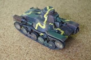 1:72ドラゴン九五式軽戦車ハ号完成