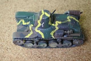 1:72ドラゴン九五式軽戦車ハ号完成写真